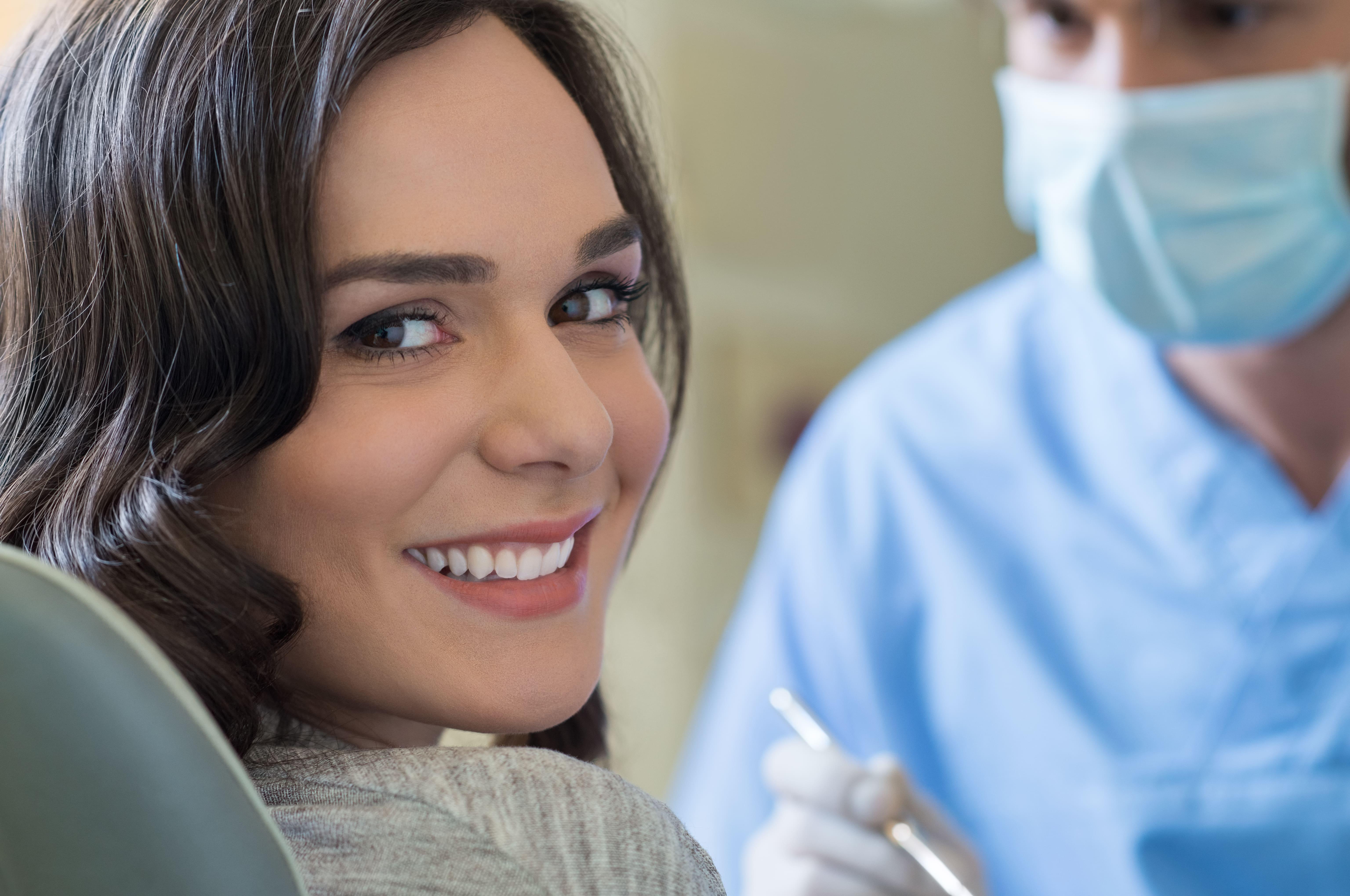 woman in a dental clinic